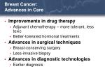 breast cancer advances in care