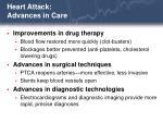 heart attack advances in care