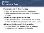 stroke advances in care