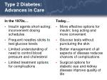 type 2 diabetes advances in care20