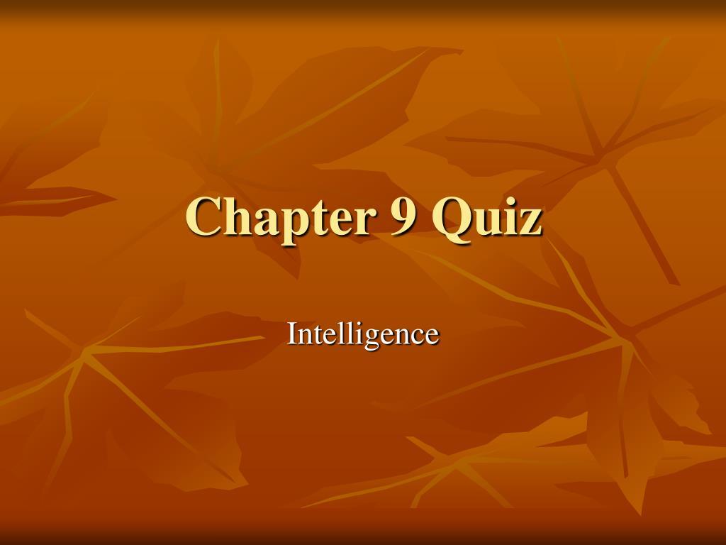 chapter 9 quiz l.
