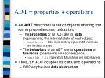 adt properties operations