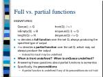 full vs partial functions