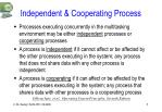 independent cooperating process