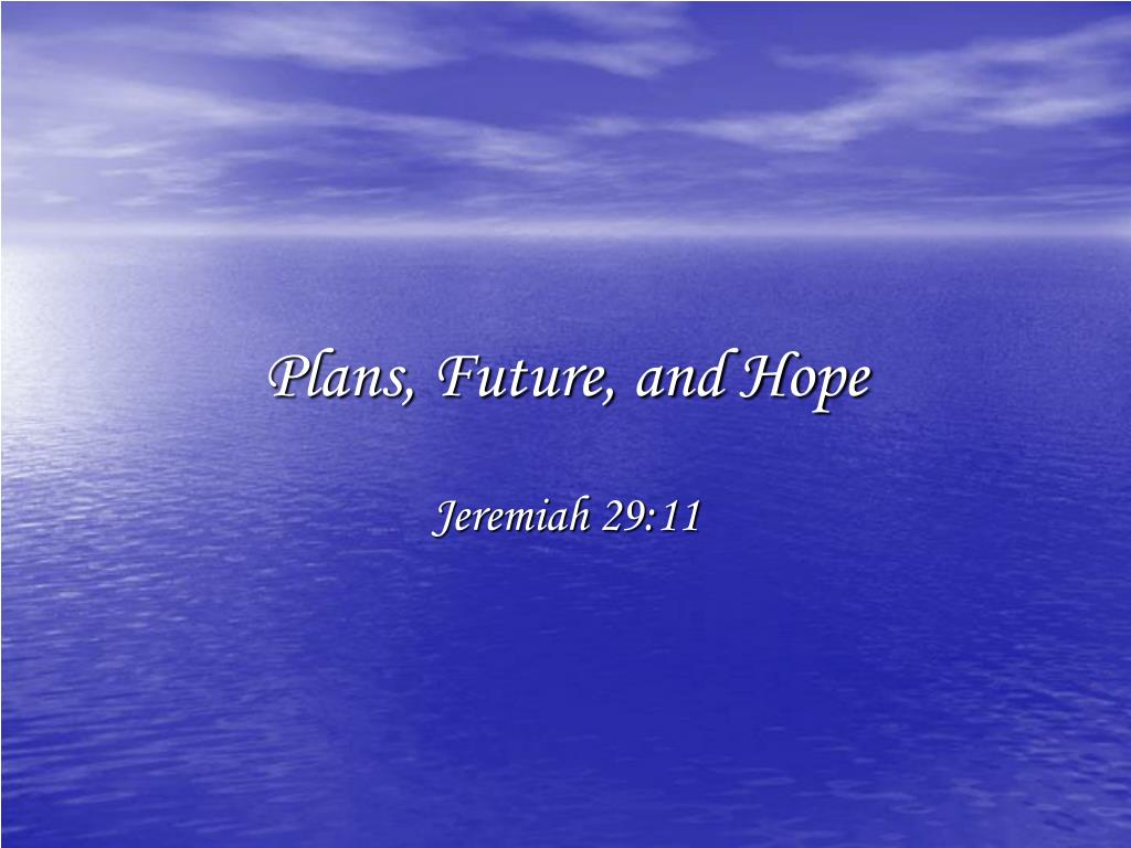 plans future and hope l.