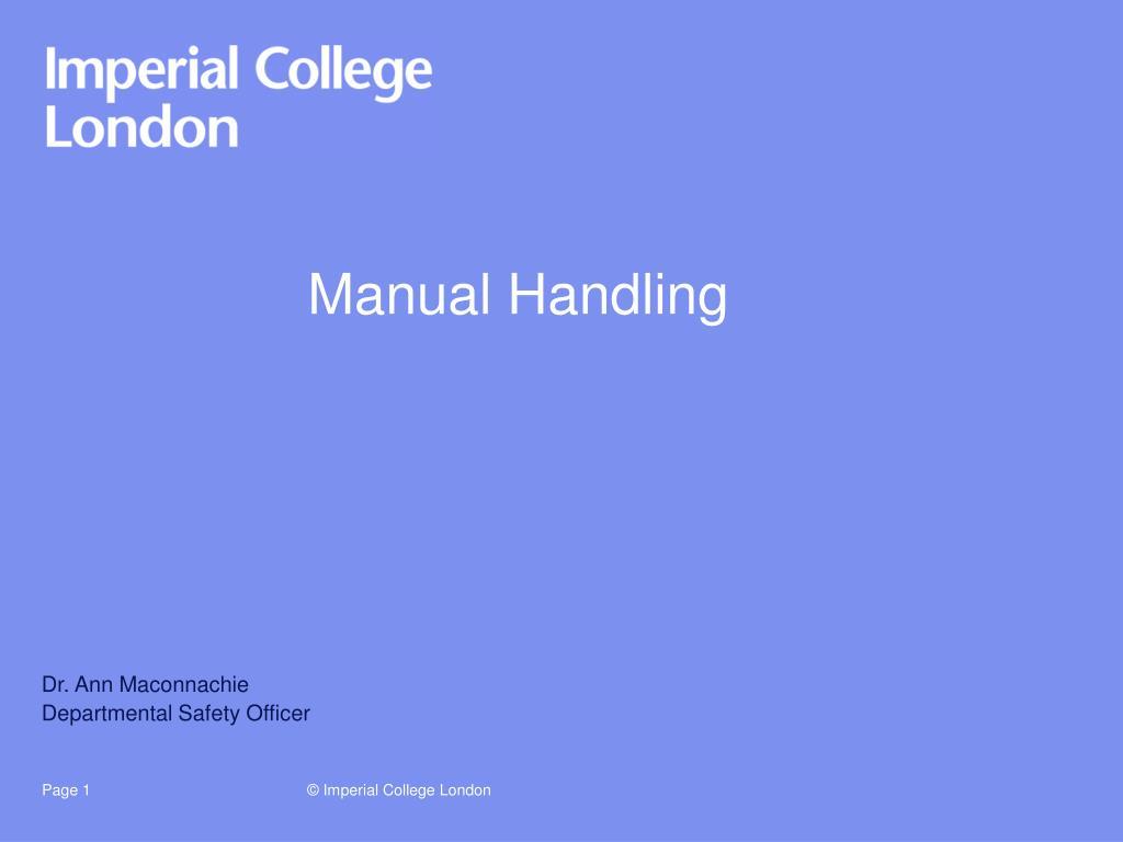 manual handling l.