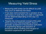 measuring yield stress