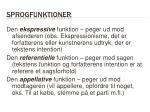 sprogfunktioner