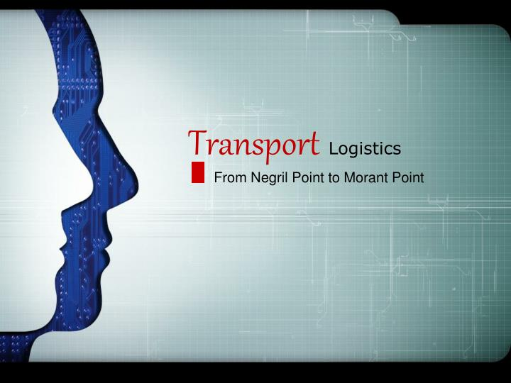 transport logistics n.