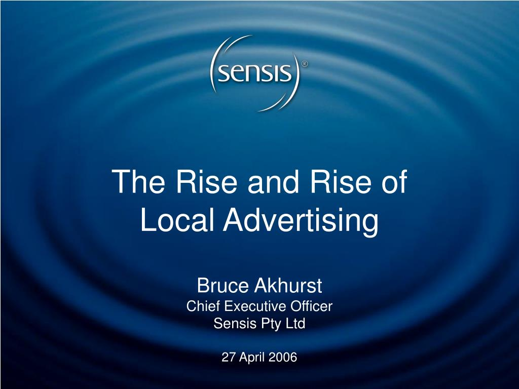 the rise and rise of local advertising l.