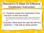 marzano s 6 steps for effective vocabulary instruction29