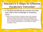 marzano s 6 steps for effective vocabulary instruction31