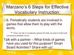 marzano s 6 steps for effective vocabulary instruction33