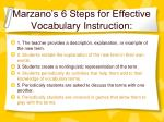 marzano s 6 steps for effective vocabulary instruction34