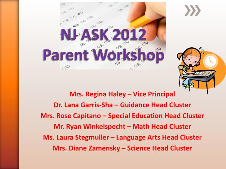 nj ask 2012 parent workshop n.