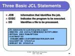 three basic jcl statements