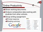 online productivity
