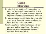 auditor inform tico