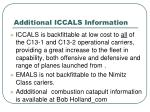 additional iccals information