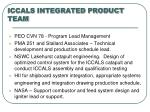 iccals integrated product team