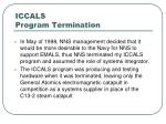 iccals program termination