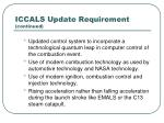 iccals update requirement continued
