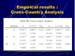 empirical results cross country analysis