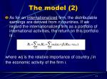 the model 2