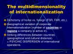 the multidimensionality of internationalization