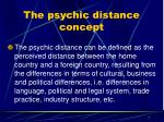 the psychic distance concept