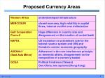 proposed currency areas