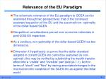 relevance of the eu paradigm