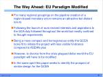 the way ahead eu paradigm modified