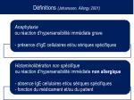d finitions johansson allergy 2001