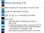 model checking ctl19