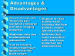 advantages disadvantages11