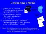 constructing a model