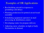 examples of or applications