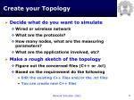 create your topology