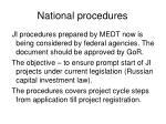 national procedures