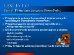 lekcja 1 i 2 temat poznajemy program powerpoint