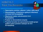 lekcja 3 temat unia europejska