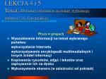 lekcja 4 i 5 temat zbieramy informacje na temat wybranego pa stwa unii europejskiej