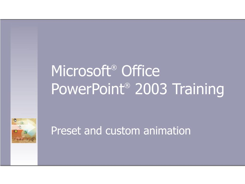 microsoft office powerpoint 2003 training l.