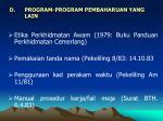 program program pembaharuan yang lain
