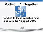 so what do these activities have to do with the algebra i eoc