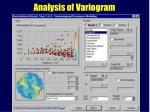analysis of variogram