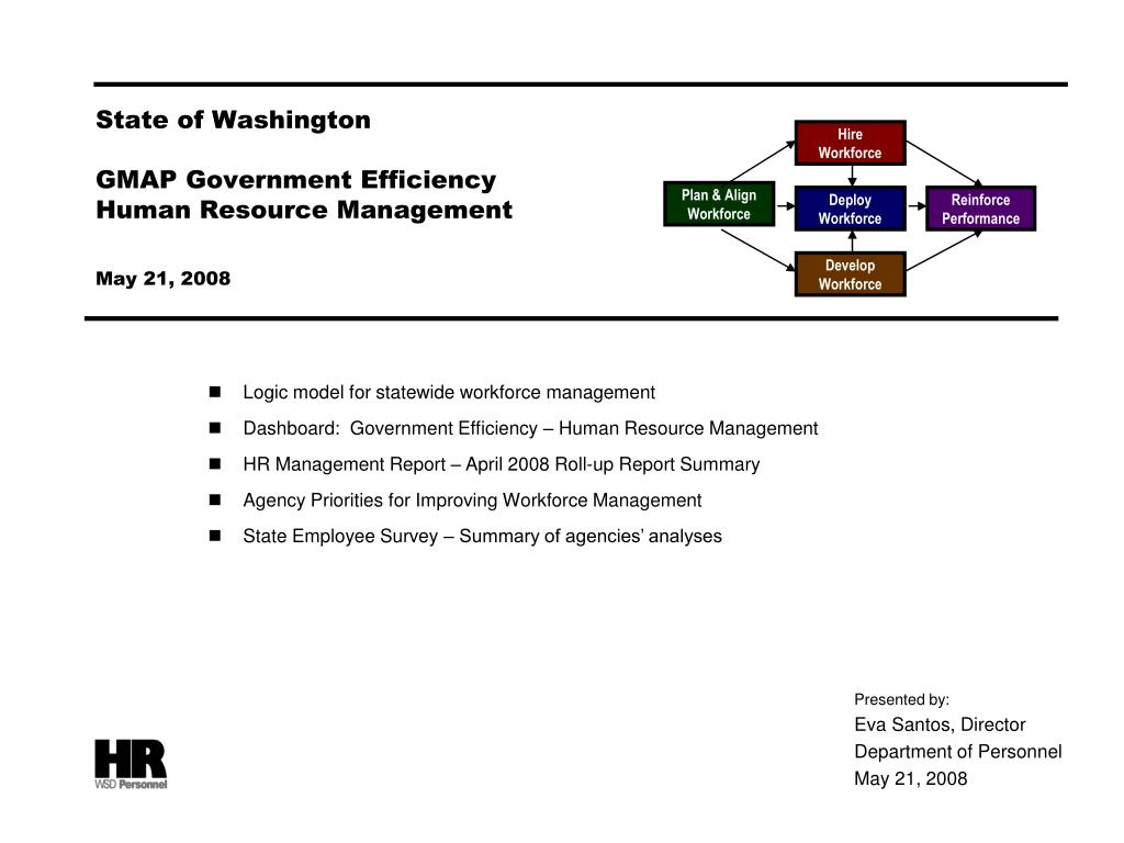 state of washington gmap government efficiency human resource management may 21 2008 l.