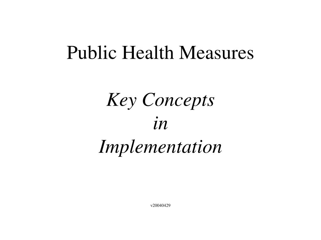 public health measures key concepts in implementation l.