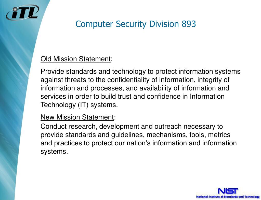 Computer Security Division 893